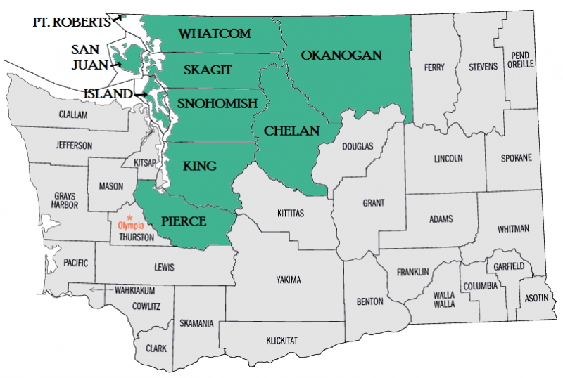 Service Areas in Washington State
